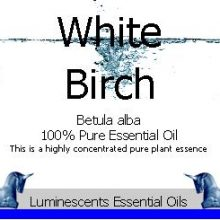 white birch essential oil label