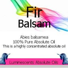 Fir Balsam absolute oil label