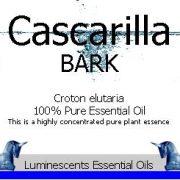 cascarilla bark essential oil label