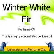 winter white fir perfume oil label