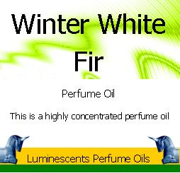 winter white fir perfume oil label