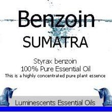 Benzoin Sumatra Essential Oil Label Copyright D Hugonin