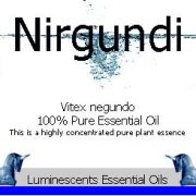 nirgundi essential oil label