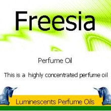 freesia perfume oil label