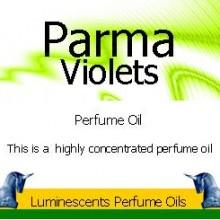 parma violets perfume oil label