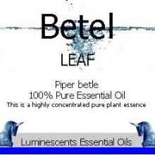 betel leaf essential oil label