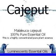Cajeput essential oil label