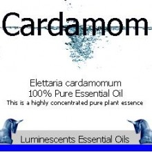 cardamom essential oil label