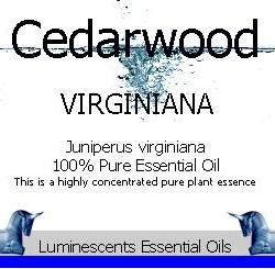 cedarwood virginian essential oil label