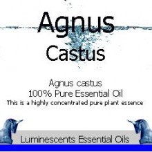agnus castus essential oil label