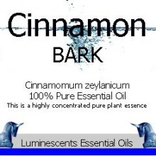 Cinnamon Bark Essential Oil Label