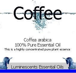 coffee essential oil label