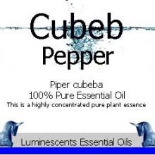cubeb pepper essential oil label