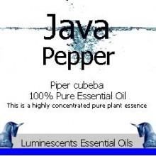 Java Pepper essential oil label