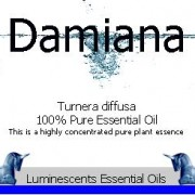 damiana essential oil label
