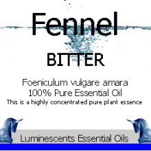 Fennel Bitter essential oil label