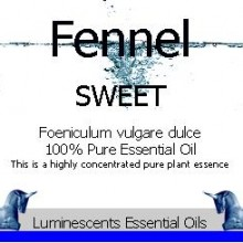 Fennel sweet essential oil label