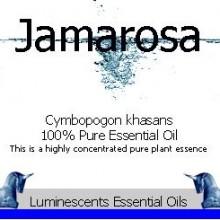 jamarosa essential oil label
