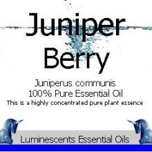 juniper berry essential oil label