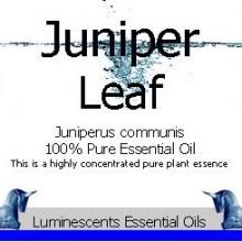 juniper leaf essential oil label