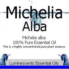 Michelia alba essential oil label