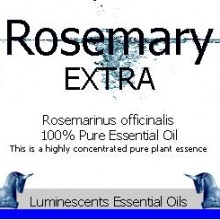rosemary extra essential oil label