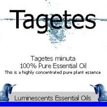 tagetes essential oil label