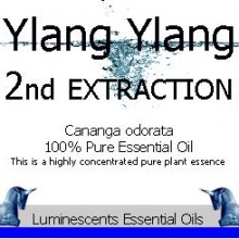 ylang ylang 2nd extraction essential oil label