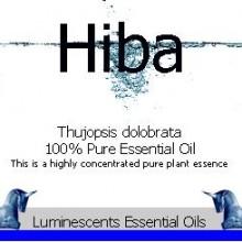 hiba essential oil label
