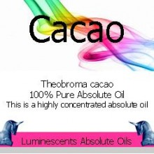 cacao absolute oil label