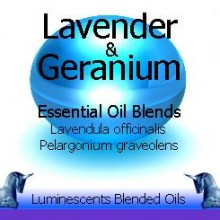 Lavender and Geranium blended essential oils