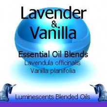 lavender and vanilla blended essential oils