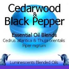 cedarwood and black pepper blended essential oils