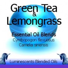 green tea and lemongrass blended essential oils