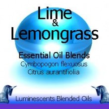 Lime and Lemongrass blended essential oils