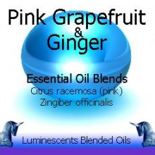 Pink grapefruit and ginger blended essentiual oils