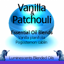 Vanilla and Patchouli blended essential oils