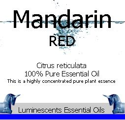 Red Mandarin Essential Oil Label