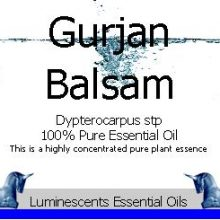 Gurjan Balsam Essential Oil Label
