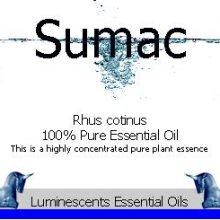 sumac-essential-oil label