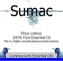 sumac-essential-oil label