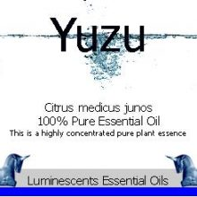Yuzu essential oil label