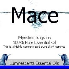 mace essential oil label