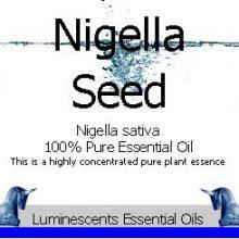 nigella sativa seed essential oil label
