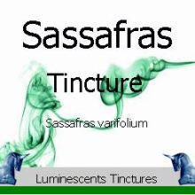 sassafras tincture label