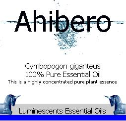 ahibero-essential-oil-label