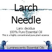 larch-needle-essential-oil-label