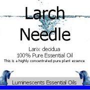 larch-needle-essential-oil-label