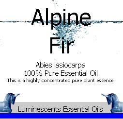 Alpine Fir Essential Oil Label copyright d hugonin