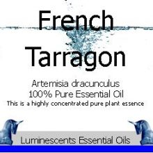 French Tarragon Essential Oil Label